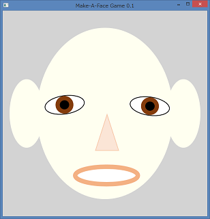 Screen shot of a program Make-A-Face Game 0.1