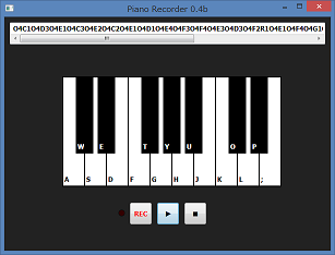 Screen shot of a program Piano Recorder 0.4b