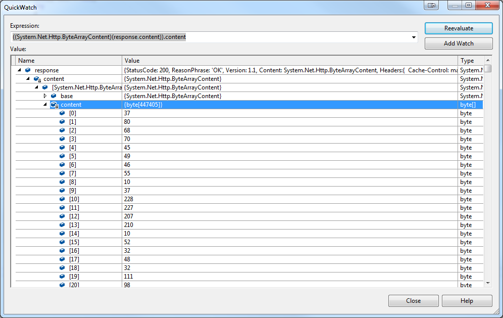 Stream PDF Byte array from WebAPI to browser
