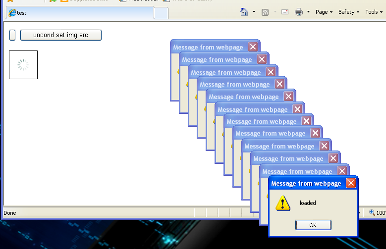 In ie javascript how to fire onload event for cached for Window onload not working in ie