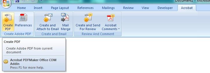 Adobe word addin