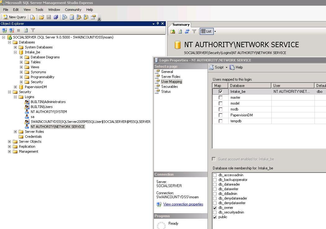 Authority nt windows
