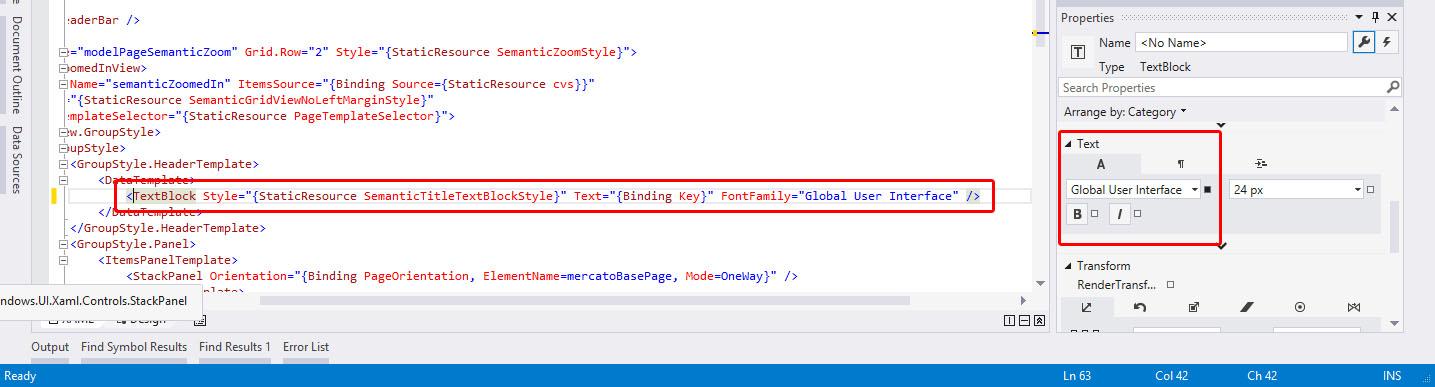 Visual Studio adds FontFamily=