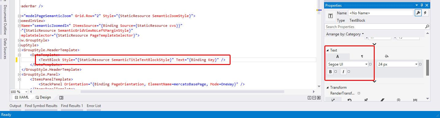 Normal TextBlock with Segoe UI FontFamily.