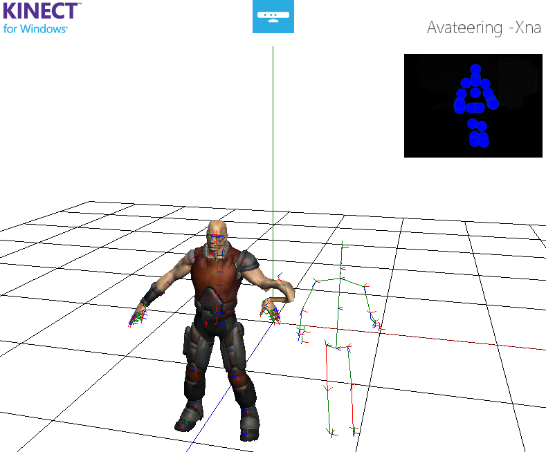 Crazy avatar with deformed left forearm, wrist and hand.