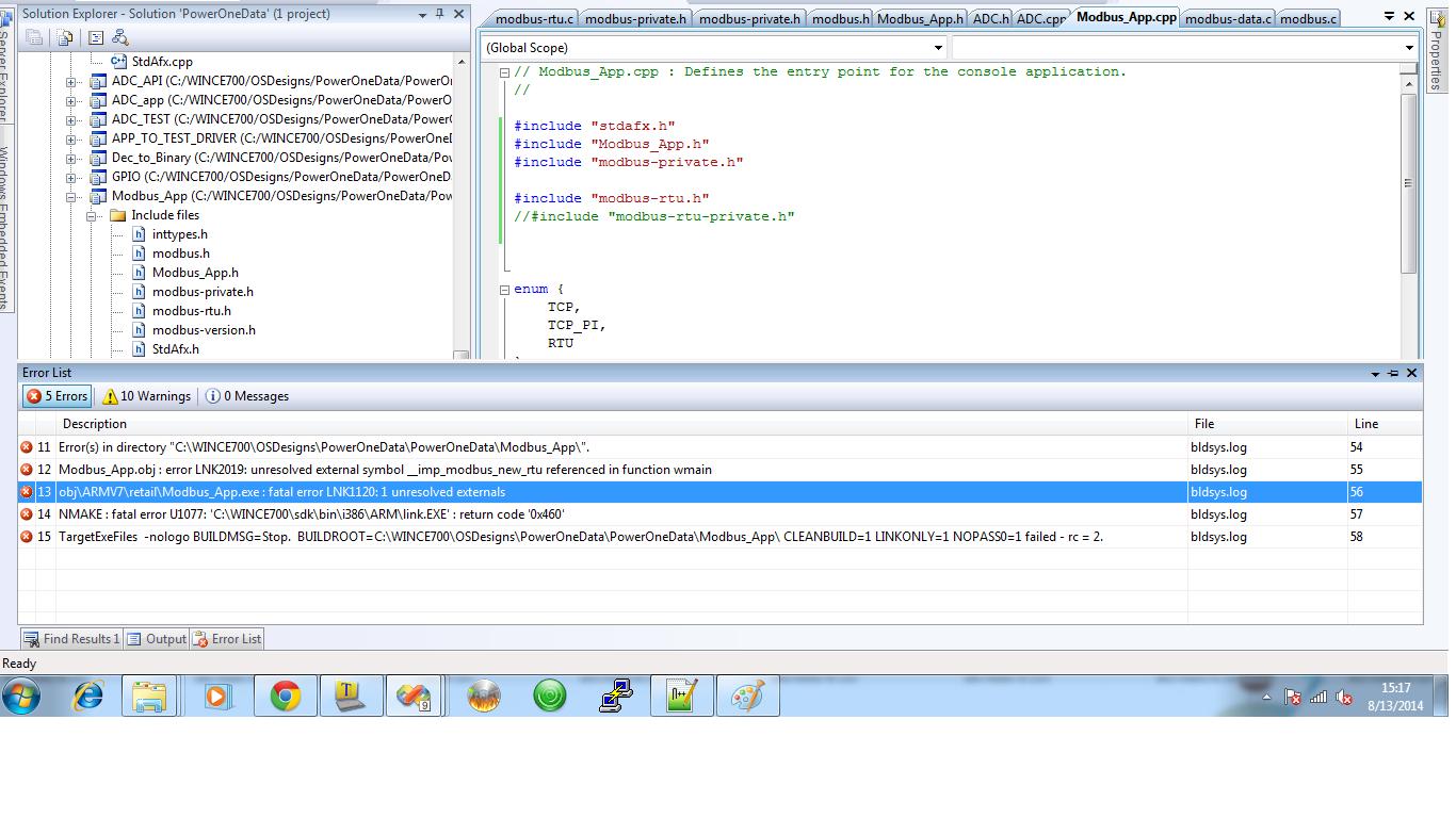 Solved error lnk2019 unresolved external symbol on 12 i got an error as an unresolved externel symbol biocorpaavc