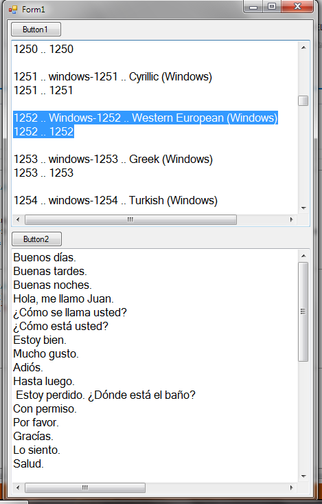 windows 10 codeset 1252