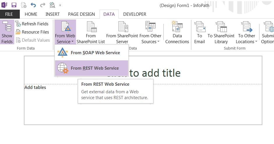 infopath web service