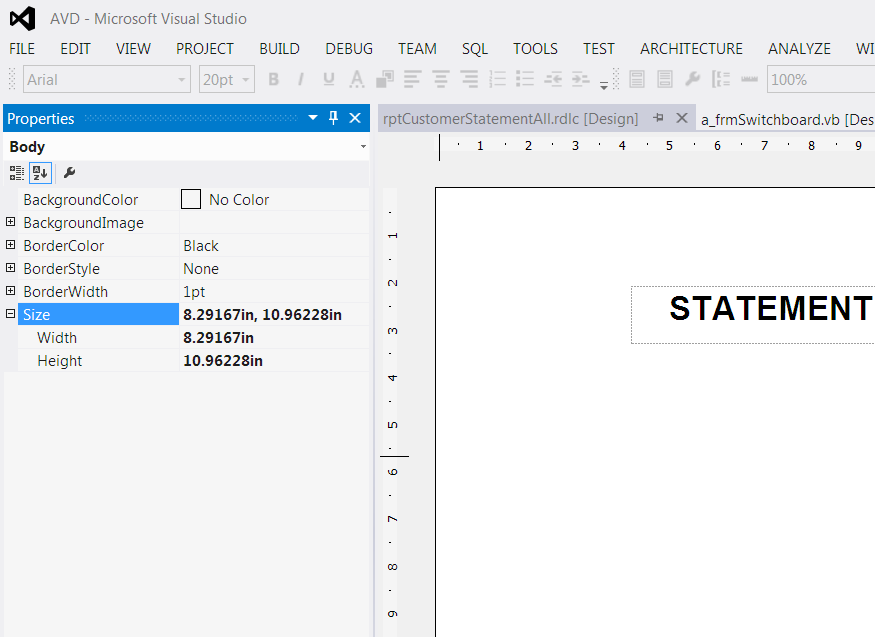 *Not Resolved* How to Set Custome Paper Size in Crystal Reports