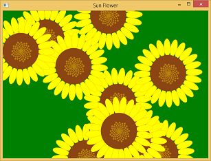 Screen shot of a program Sun Flower