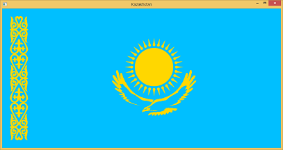 Screen shot of a program Flag of Kazakhstan