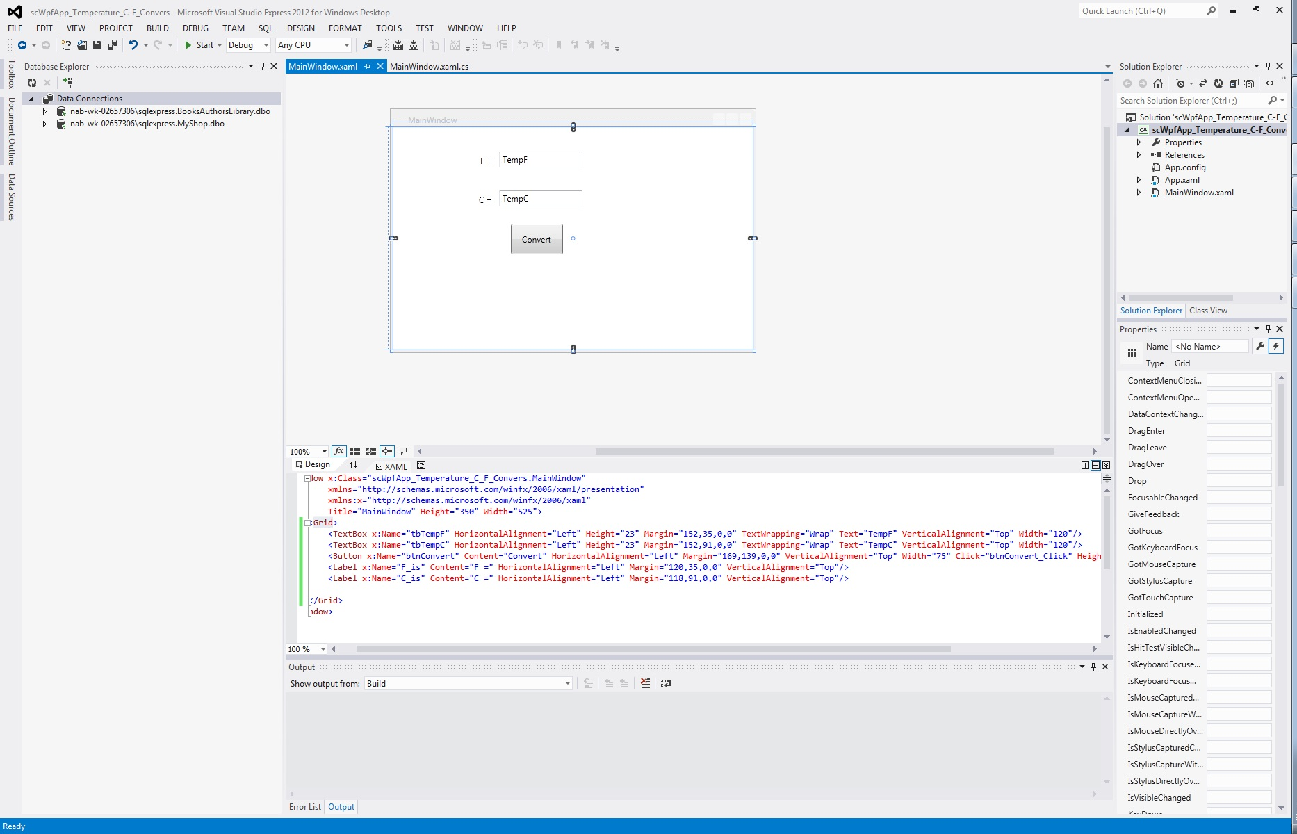 Vs 2012 express desktop application with wpf using visual c string thanks again scott chang biocorpaavc Image collections