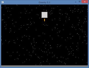 Screen shot of a program Gravity 0.1