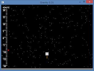 Screen shot of a program Gravity 0.31