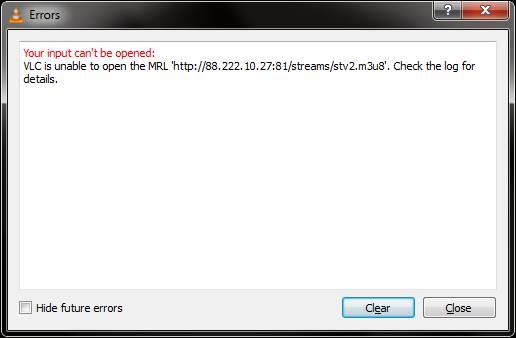 AxVLCPlugin Doesnt Play m3u8
