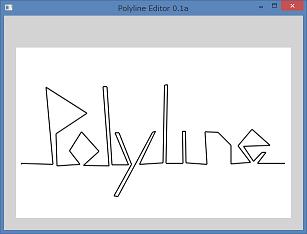 Screen shot of a program Polyline Editor 0.1a