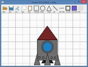 Screen shot of a program Small SVG Editor 1.85b
