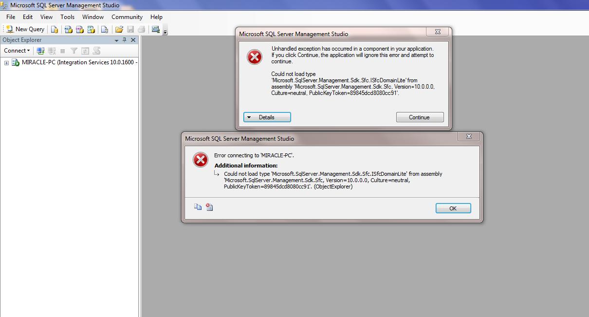 installe sql server 2008 sp1 windows 7
