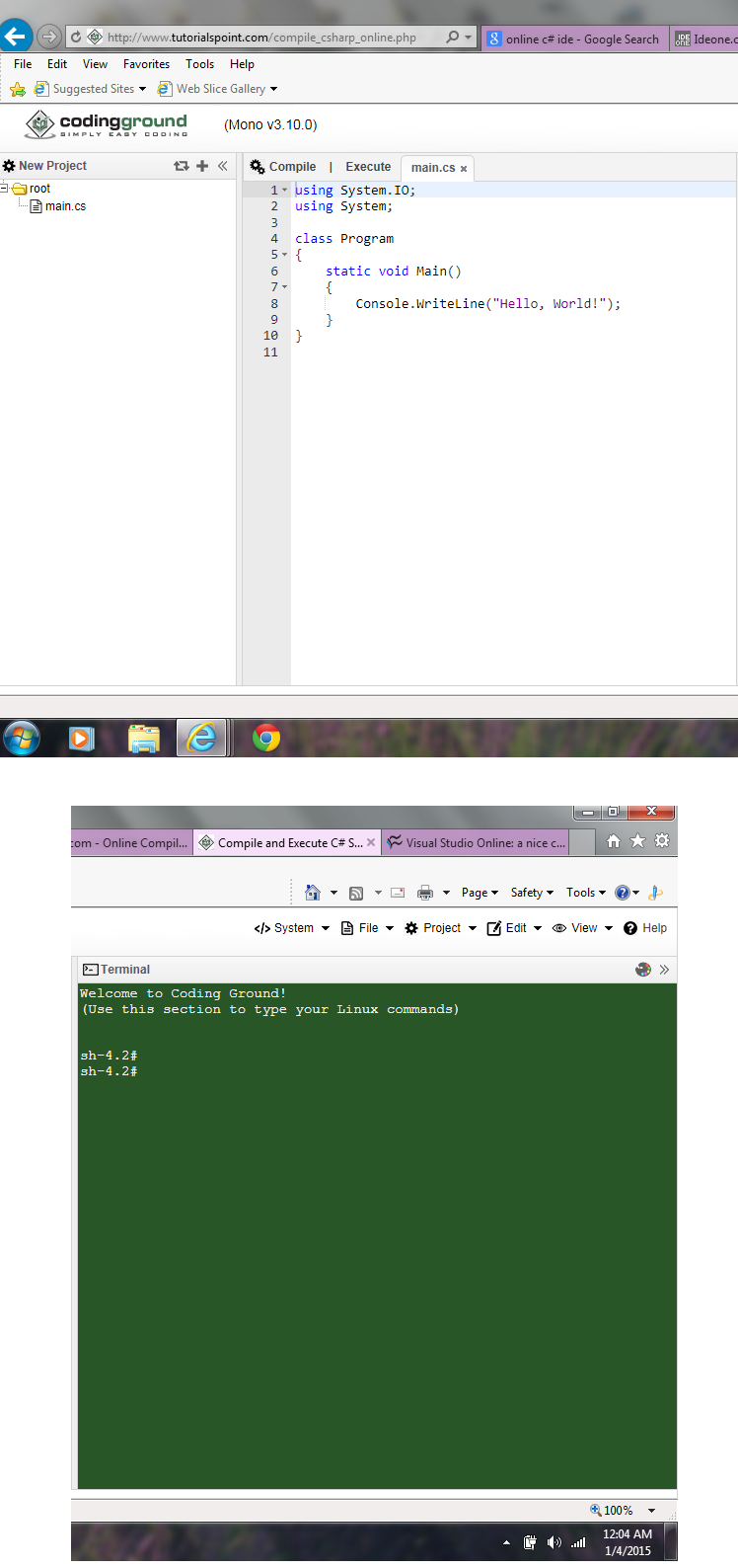 Any free online C# editors with code completion?