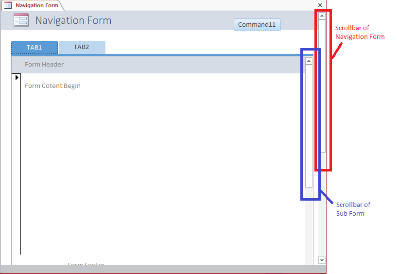 Add Vertical Scroll Bar To Access NavigationControl