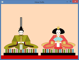 Screen shot of a program Hina Dolls