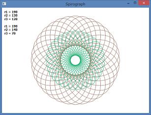 Screen shot of a program Spirograph