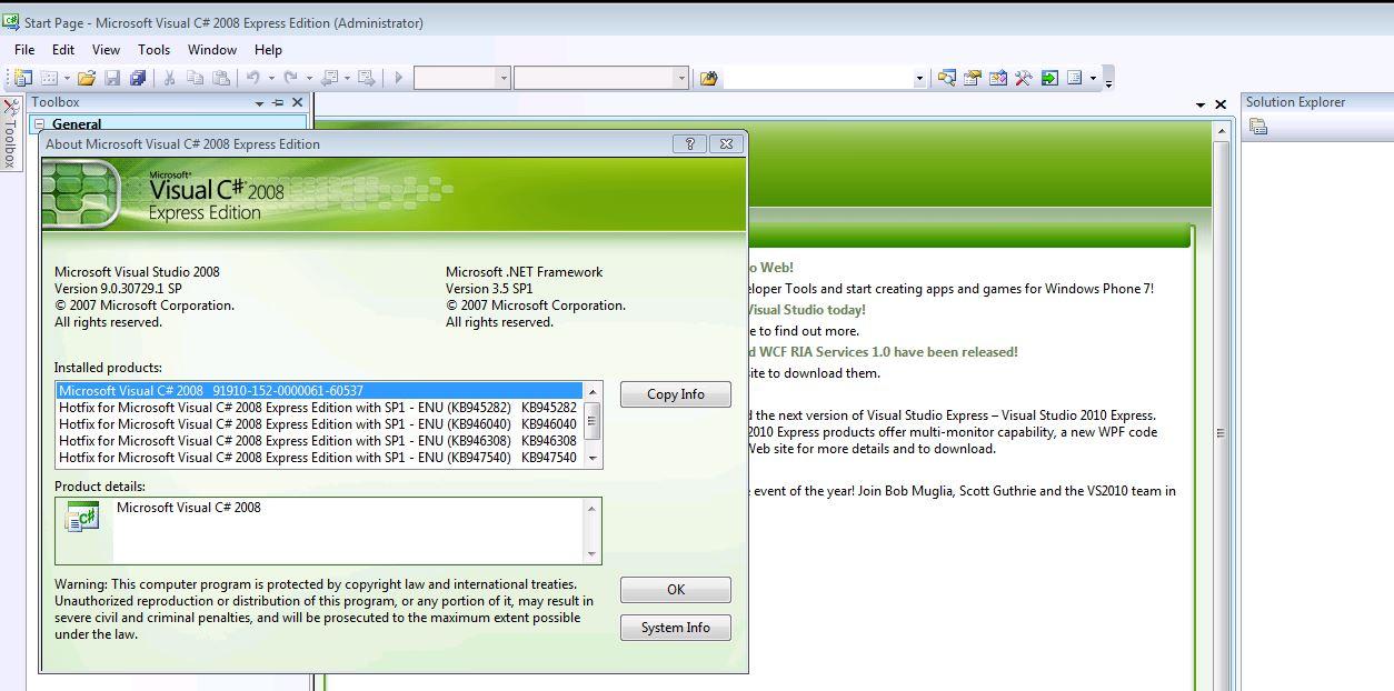 registration key for microsoft visual basic 2008 express edition