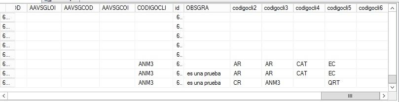 Cada cliente puede tener varios casos(Codigocli,codigocli2,codigocli3)
