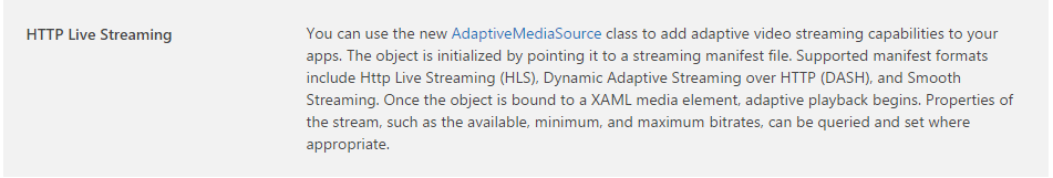 AdaptiveMediaSource