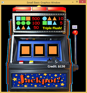 Screen shot of a program Jackpot! (Slot Machine)