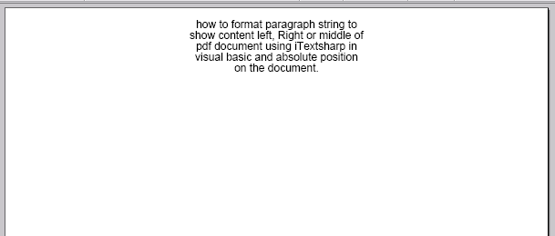 how to format paragraph string to show content left, Right or middle