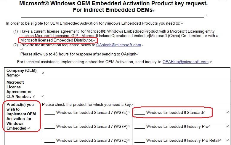 windows embedded standard license key