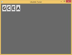 Screen shot of a program Ukulele Tuner