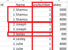 How to calculate RowNumber of a row in DAX