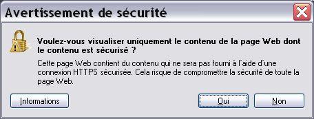 Voulez-vous afficher seulement le contenu sécurisé ?