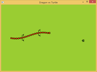 Screen shot of a program Dragon and Turtle 0.1a