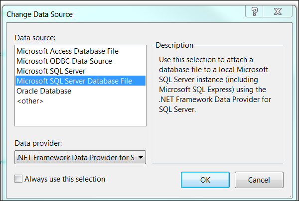 how to connect your database to microsoft studio