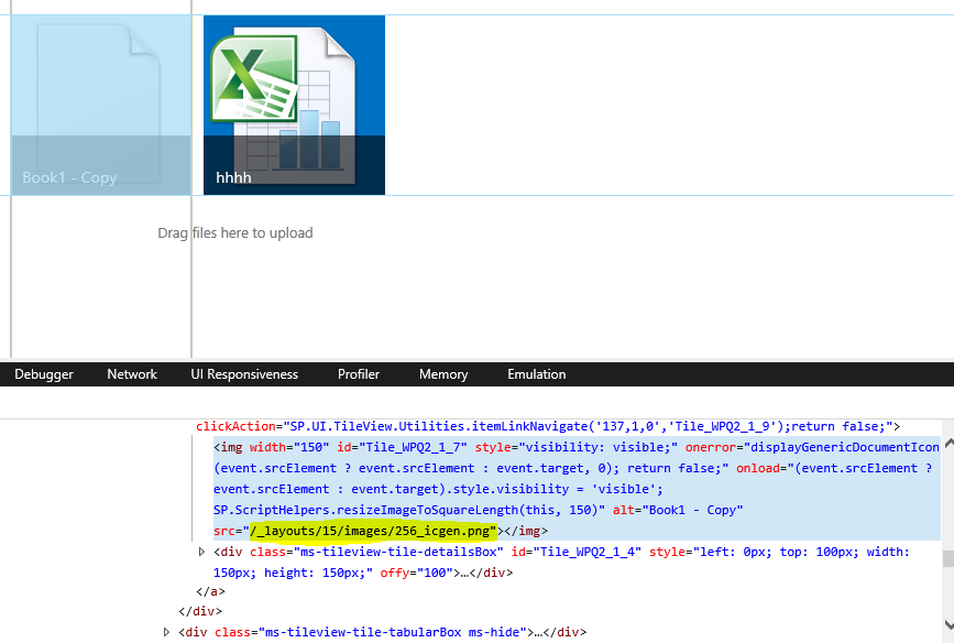 Sharepoint picture library with Thumbnails: PDF, and MOV icons
