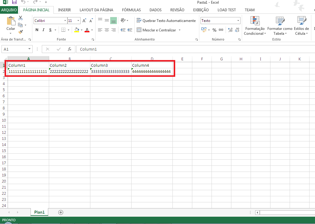 Excel Formating Cells