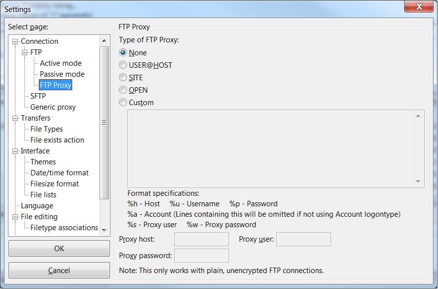 C# FTP upload a file over a server