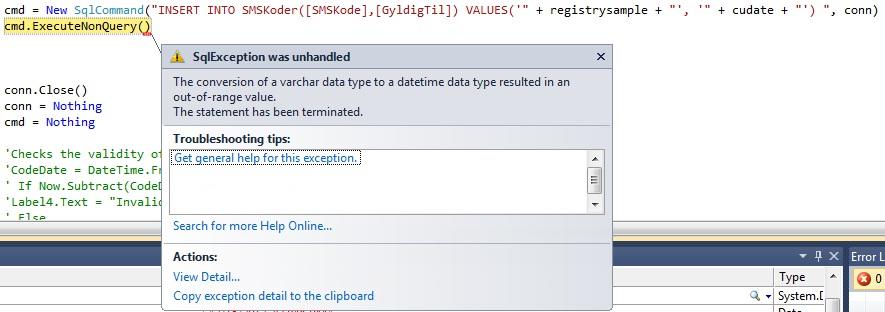 executenonquery vb.net return value