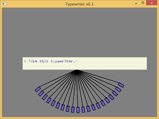 Screen shot of a program Typewriter Emulator 0.1