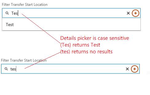 case sensitive search