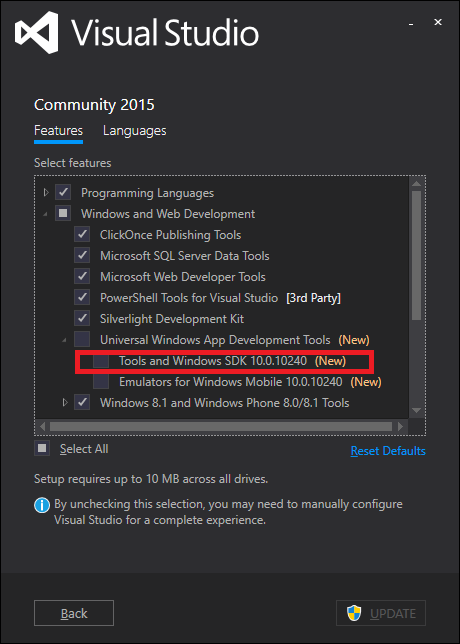 how to open microsoft visual c++ in windows 10