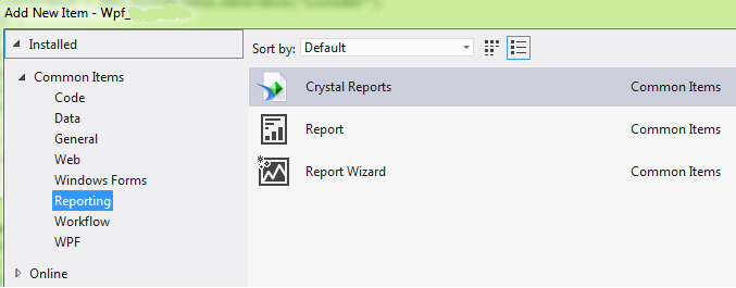 crystal reports template is missing in vs 2013