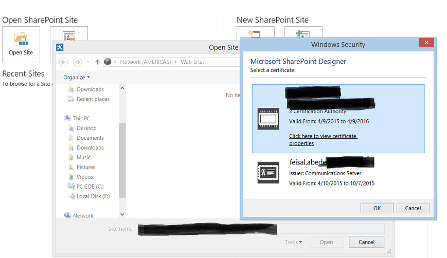 how to connect sharepoint designer to sharepoint site