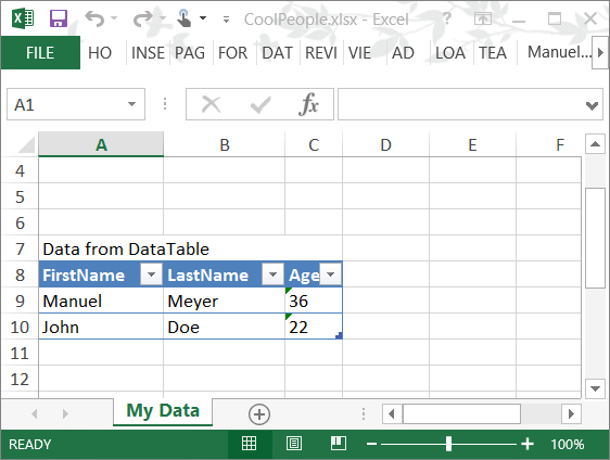 How to read Data from text file and write specific values,column