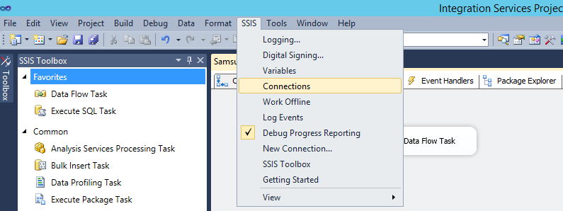 dts config file using SSIS Package