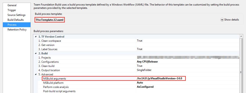 TFS Build Using Wrong Visual Studio Version