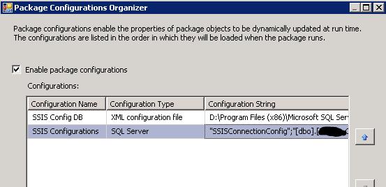 SSIS Configurations problem
